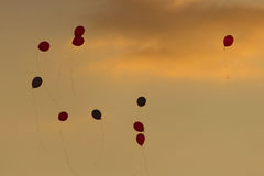 Colorful balloons in the sky Royalty Free Stock Photos