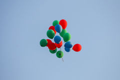Colorful balloons in sky Royalty Free Stock Photography
