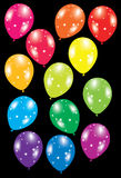 Colorful balloons with stars Royalty Free Stock Photo
