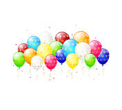 Colorful balloons with stars Royalty Free Stock Images