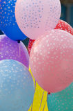 Colorful balloons on strings Stock Image