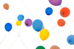 Colorful balloons in sunlight Stock Photo