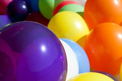 Colorful Balloons At Sunny Outdoor Festival Fill Frame Royalty Free Stock Images
