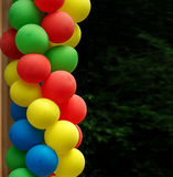 Colorful balloons - a symbol of celebration of the joys. Of childhood Stock Images
