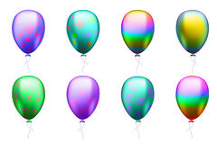 Colorful balloons with symbols of the LGBT community Royalty Free Stock Photography