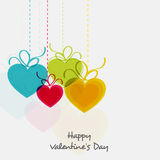 Colorful balloons for Valentines Day celebration. Royalty Free Stock Photo