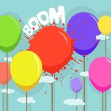Colorful balloons vector Stock Image