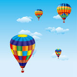 Colorful balloons vector royalty free stock photos