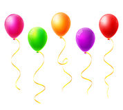 Colorful balloons. Vector on white Royalty Free Stock Photos