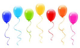 Colorful balloons. Vector on white background Stock Photos