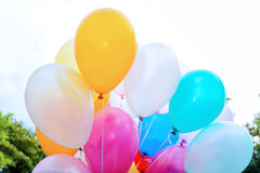 Colorful balloons. Vivid colorful balloons in the air Royalty Free Stock Photo