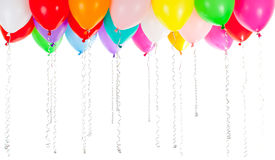 Colorful balloons  on white Stock Photo