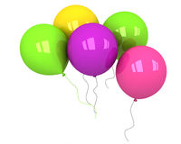 Colorful balloons on a white background Stock Image