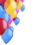 Colorful balloons on the white. Background Royalty Free Stock Photo
