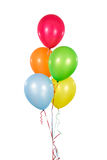 Colorful Balloons. In White Background stock photos