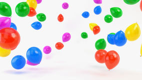 Colorful Balloons on White. Background animation