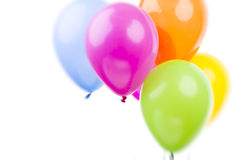 Colorful Balloons on White Background Stock Image