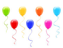 Colorful balloons on white background vector.  Royalty Free Stock Image