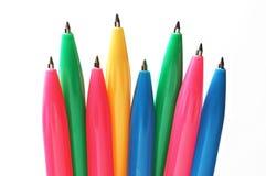 Colorful ballpens. A bundle of colorful ballpens snapshot stock image