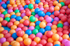 Colorful balls. Color balls from children ground Stock Image