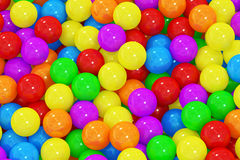 Colorful balls background. 3D rendering Stock Photos