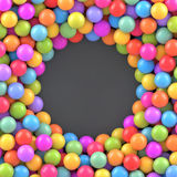 Colorful balls background with place for your content Stock Photo