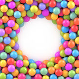 Colorful balls background with place for your content Stock Images
