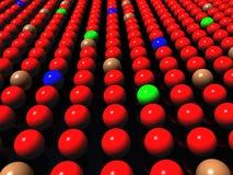 Colorful balls on black background, diversity. Various Colorful balls in row on a black background, diversity, teamwork, success concept Stock Photos