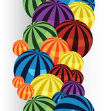 Colorful balls border verical Stock Photos