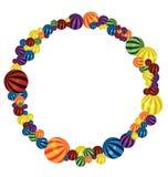 Colorful balls circle Stock Photo