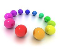 Colorful balls circle Stock Images
