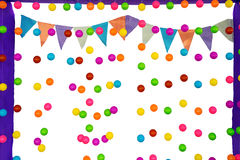 Colorful balls and flag on background Royalty Free Stock Photography