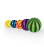 Colorful balls focus Stock Images
