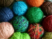 Colorful Balls From Wool - Background Royalty Free Stock Image