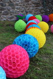 Colorful balls with glass Royalty Free Stock Image