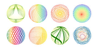 Colorful balls made of lines Royalty Free Stock Photo