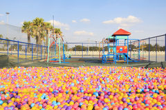 Colorful balls in park playground Royalty Free Stock Images