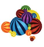 Colorful balls pile Royalty Free Stock Photography