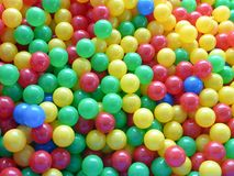 Colorful balls pool for kid games. A colorful balls pool for kid games royalty free stock photos