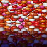 Colorful balls reflection background Stock Image