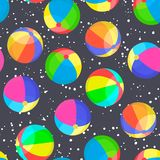 Colorful balls seamless pattern stock illustration