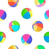 Colorful balls seamless pattern vector illustration