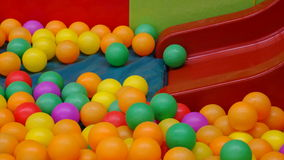 Colorful balls with slider Royalty Free Stock Images