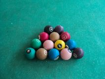 Balls of snookerl game. Colorful balls of snookerl game Royalty Free Stock Photos