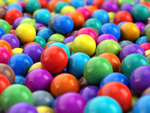 Colorful Balls spheres background. 3d rendering Stock Photos