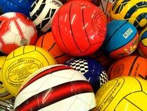 Colorful Balls in a Store, Collection of Football, Soccer Ball, Handball, BasketBall.