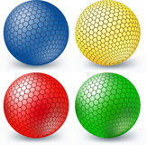 Colorful balls for web design Stock Photos