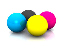 Colorful balls on white Stock Photography