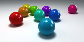 Colorful balls on white background Royalty Free Stock Images