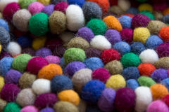 Colorful balls of wool tied together for background Royalty Free Stock Images